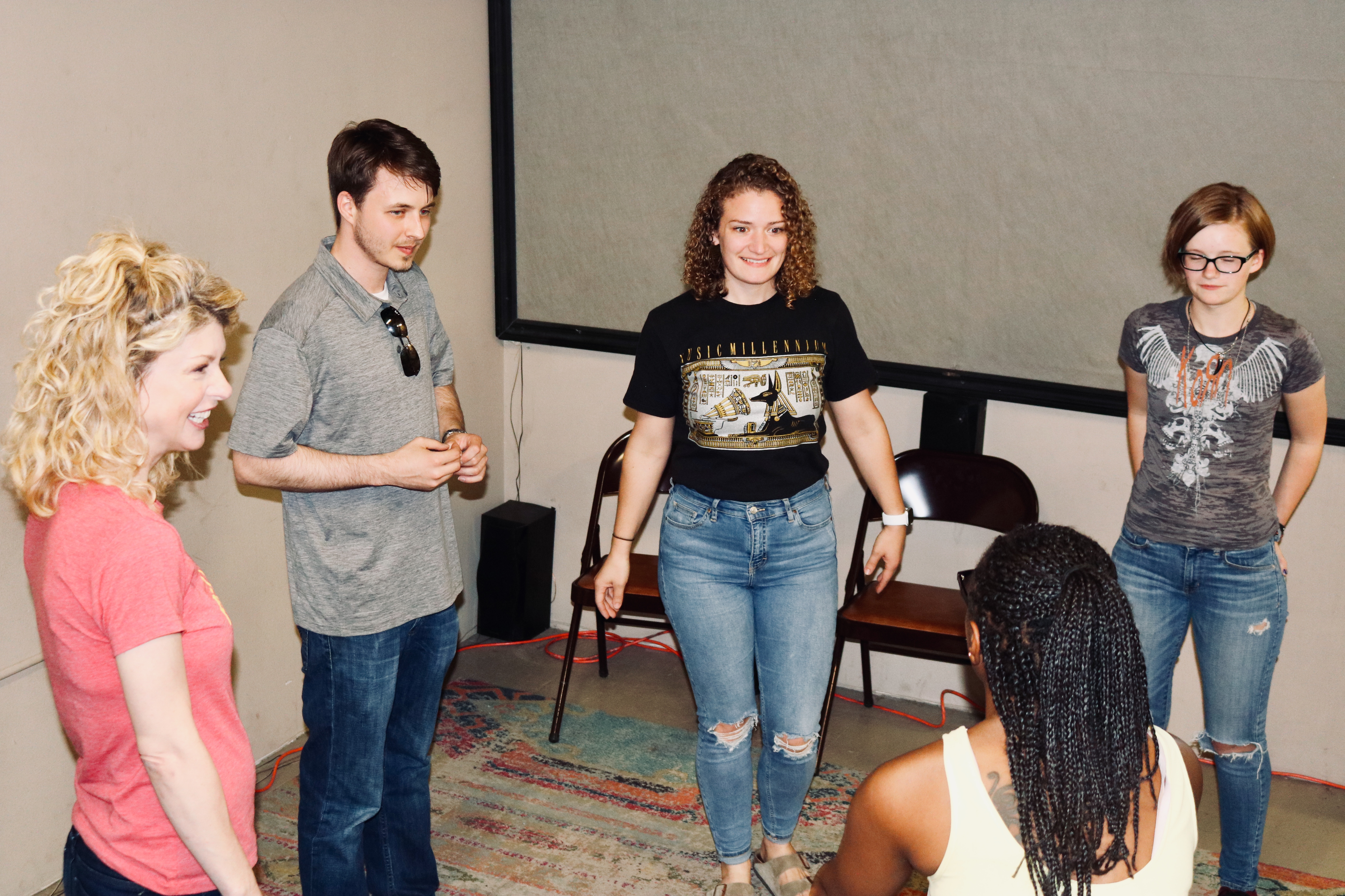 Intro to acting class warm-ups